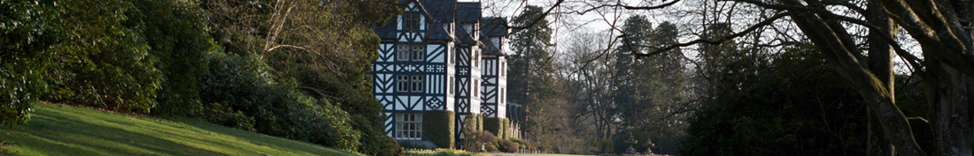 Gregynog Hall and grounds, from a photograph © Aidan Byrne