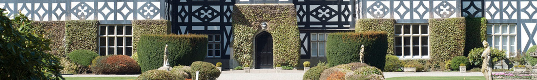 Frontage of Gregynog Hall, from a photograph © Aidan Byrne